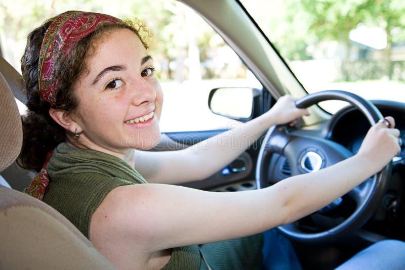 Driver abbastanza teenager immagini stock libere da diritti