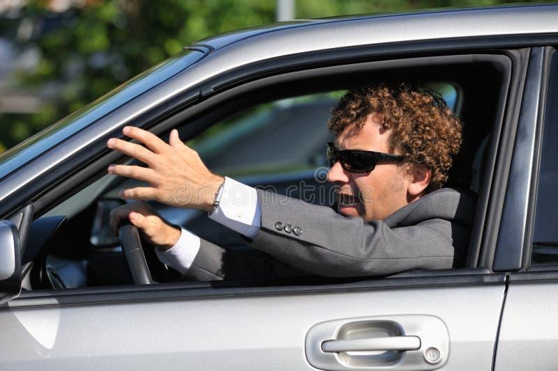 Driver arrabbiato fotografia stock