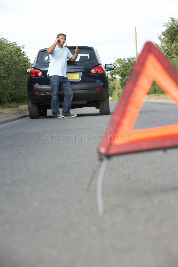 Download Driver Broken Down On Country Road Royalty Free Stock Image - Image: 15184486