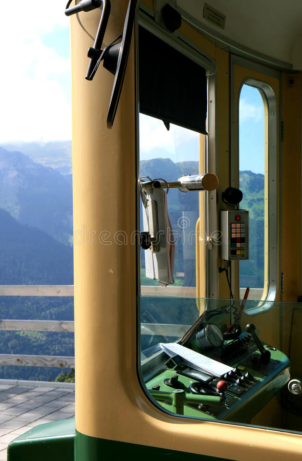 Download Driver Cab Of A Swiss Cogwheel Train Stock Image - Image: 11959159