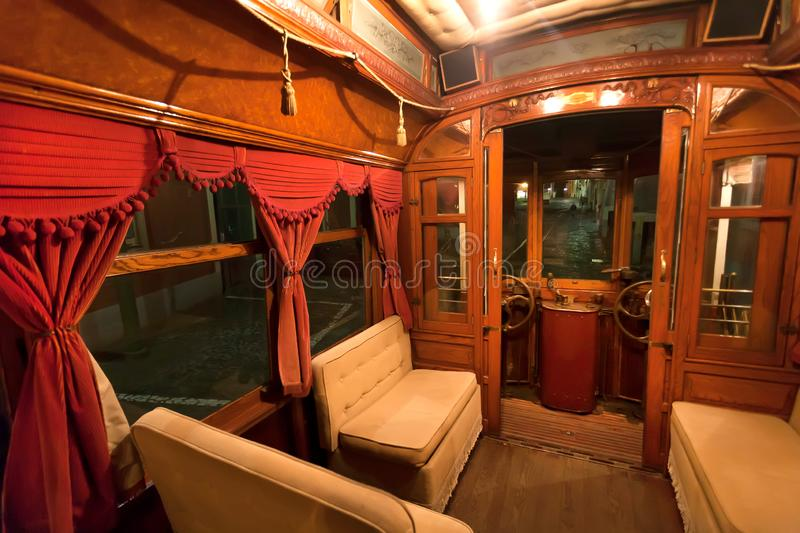 Inside An Old Passenger Rail Car Stock Image - Image of ...