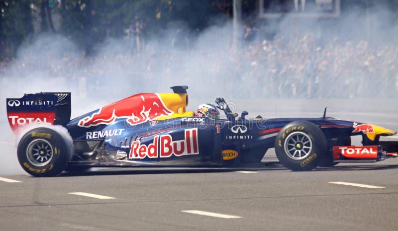 Driver Daniel Ricciardo of Red Bull Racing Team royalty free stock images