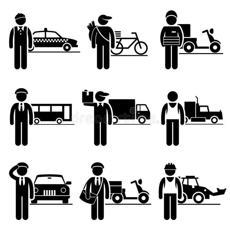 Driver Delivery Jobs Occupations Careers Royalty Free Stock Images