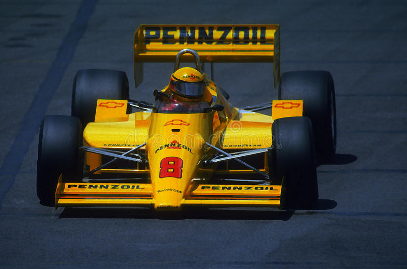 Driver di Rick Mears Indy Race Car fotografia stock