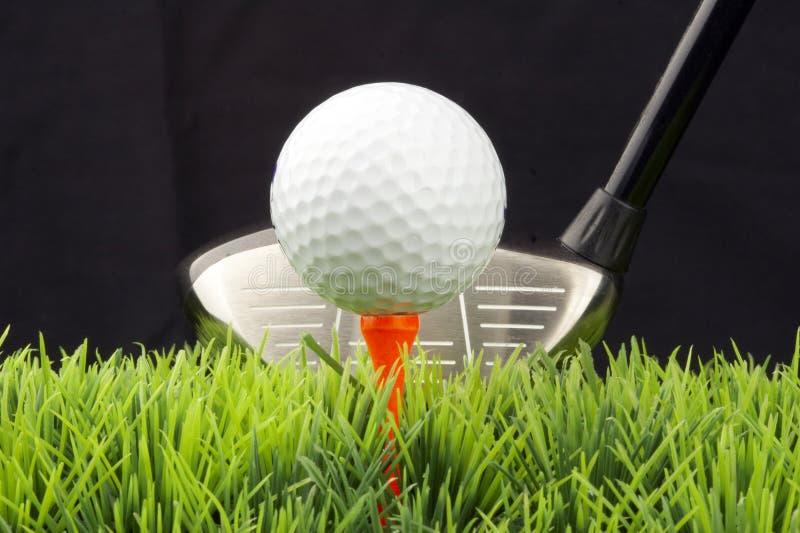 Driver e golfball immagini stock