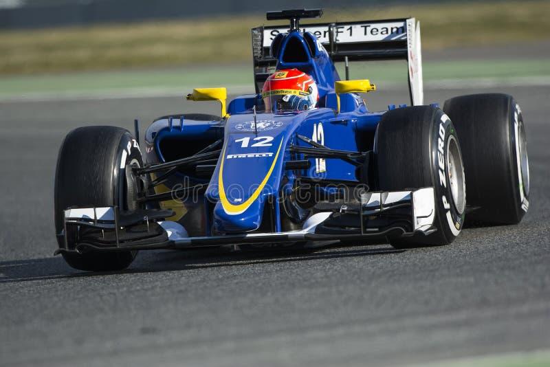 Driver Felipe Nasr. Team Sauber royalty free stock photo