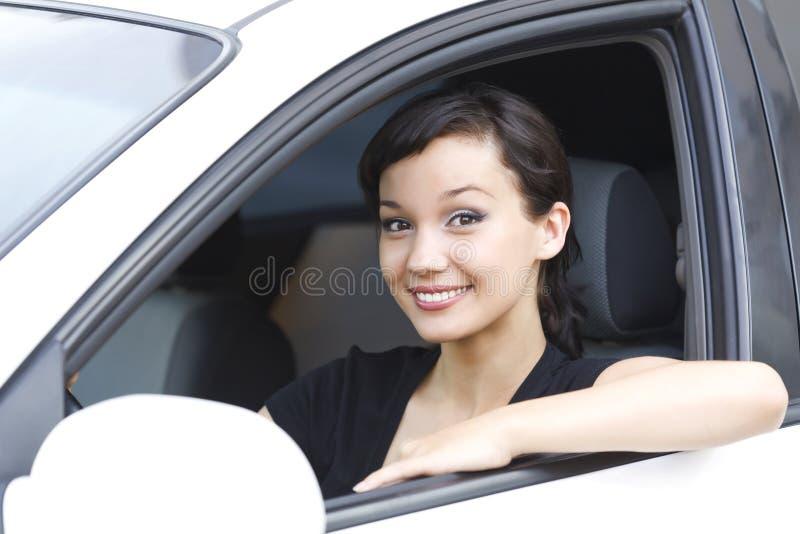 Driver femminile grazioso fotografie stock libere da diritti