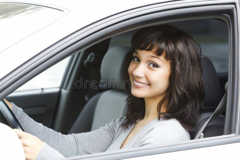 Driver femminile grazioso fotografia stock