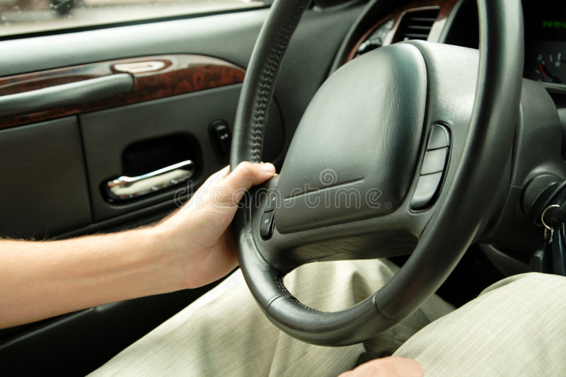 Download Driver Holding Steering Wheel Stock Image - Image: 6012001
