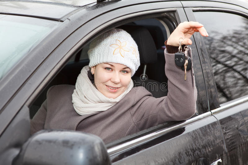 Download Driver with ignition keys stock image. Image of inside - 25292539