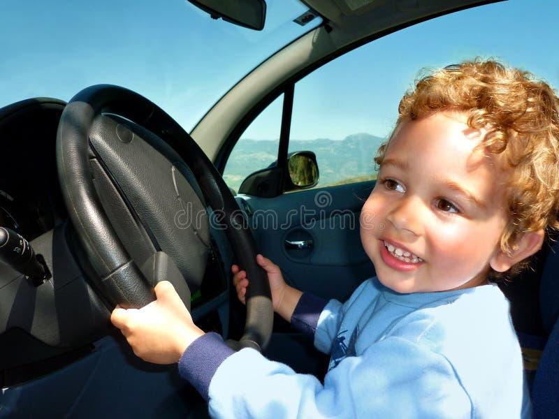 Driver kid stock image