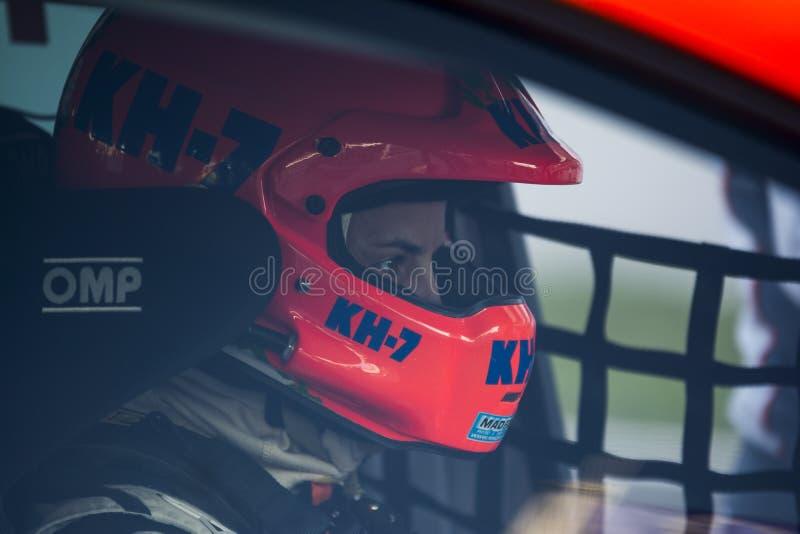 Driver Laia SANZ. Seat Leon Eurocup stock photos