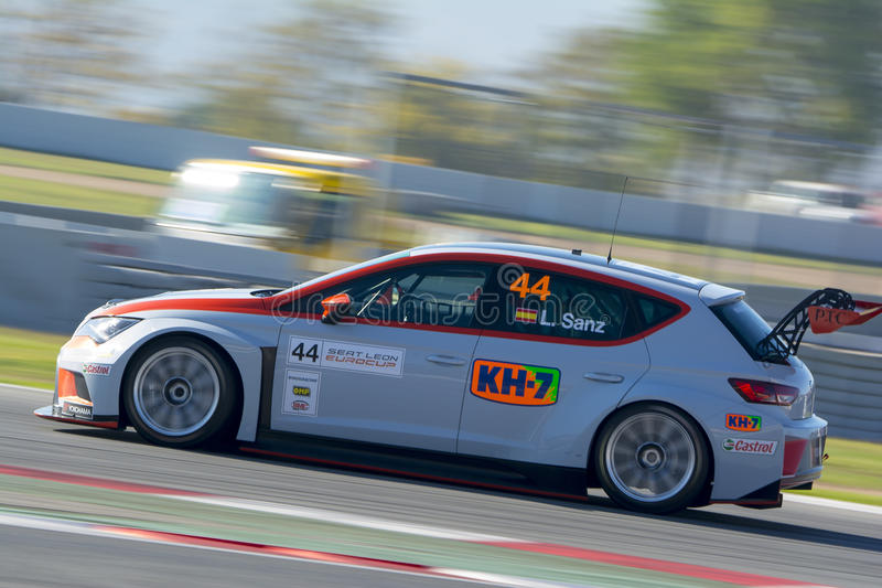 Driver Laia SANZ. SEAT LEON EUROCUP. International GT Open royalty free stock images