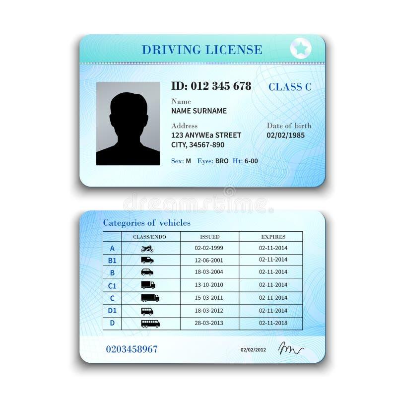 Driver License Illustration Stock Vector - Illustration of ...