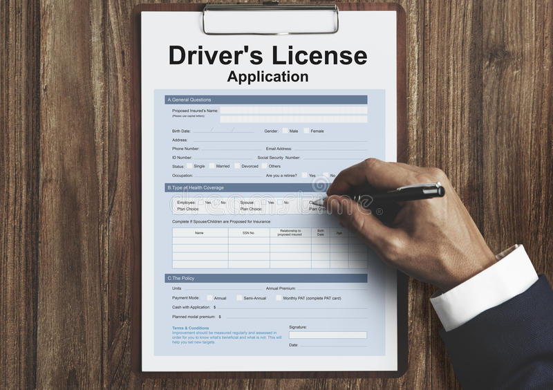 Driver License Permission Drive Concept stock image