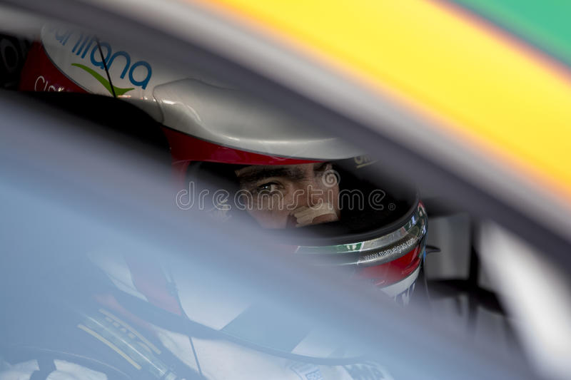 Driver Manuel GIAO. Seat Leon Eurocup royalty free stock image