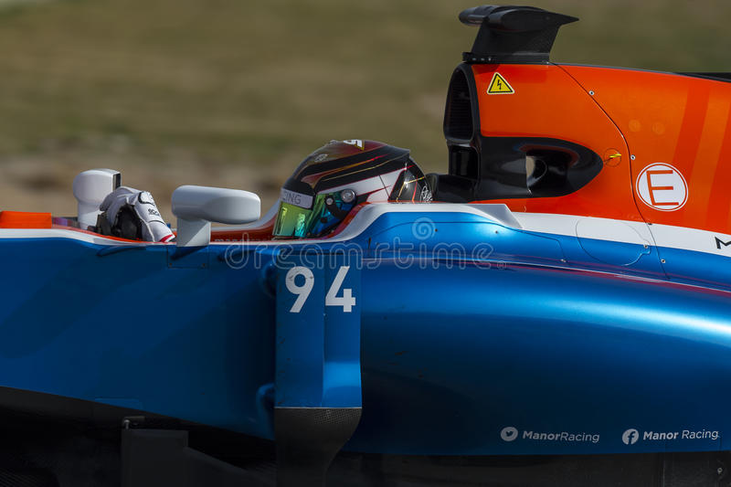 Driver Pascal Wehrlein Team Manor F1 immagini stock