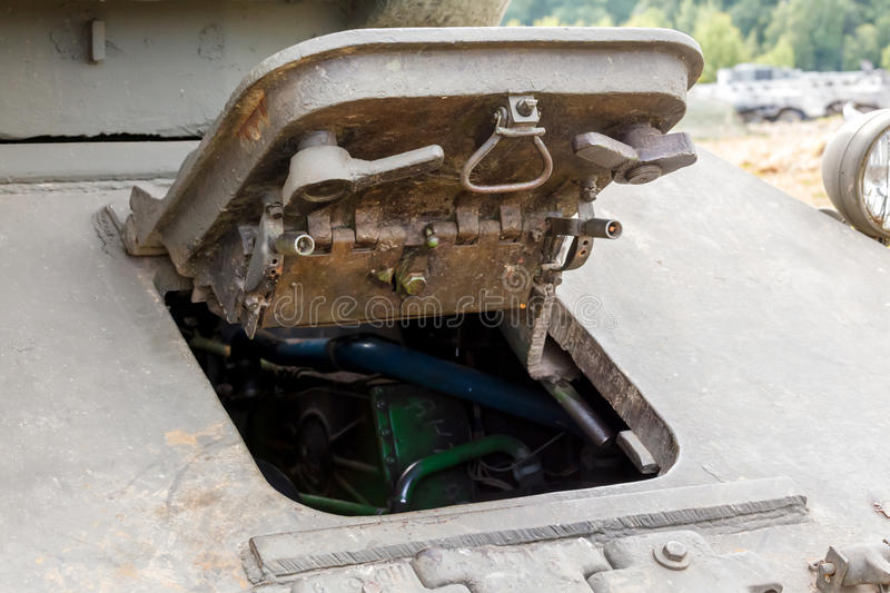 Download Driver's Hatch Mechanics Of The T-34 Stock Image - Image: 34479345