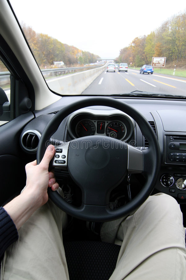 In The Driver's Seat stock photography