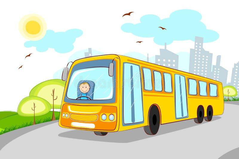 Driver in scuolabus royalty illustrazione gratis