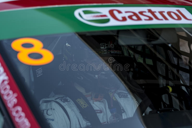 Driver Shane anthony WILLIAMS. Seat Leon Eurocup stock photo