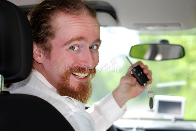 Driver smiling stock images
