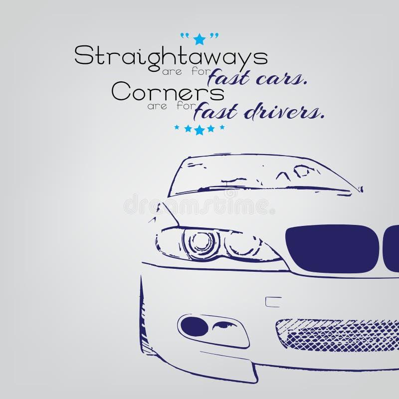 Driver veloci royalty illustrazione gratis