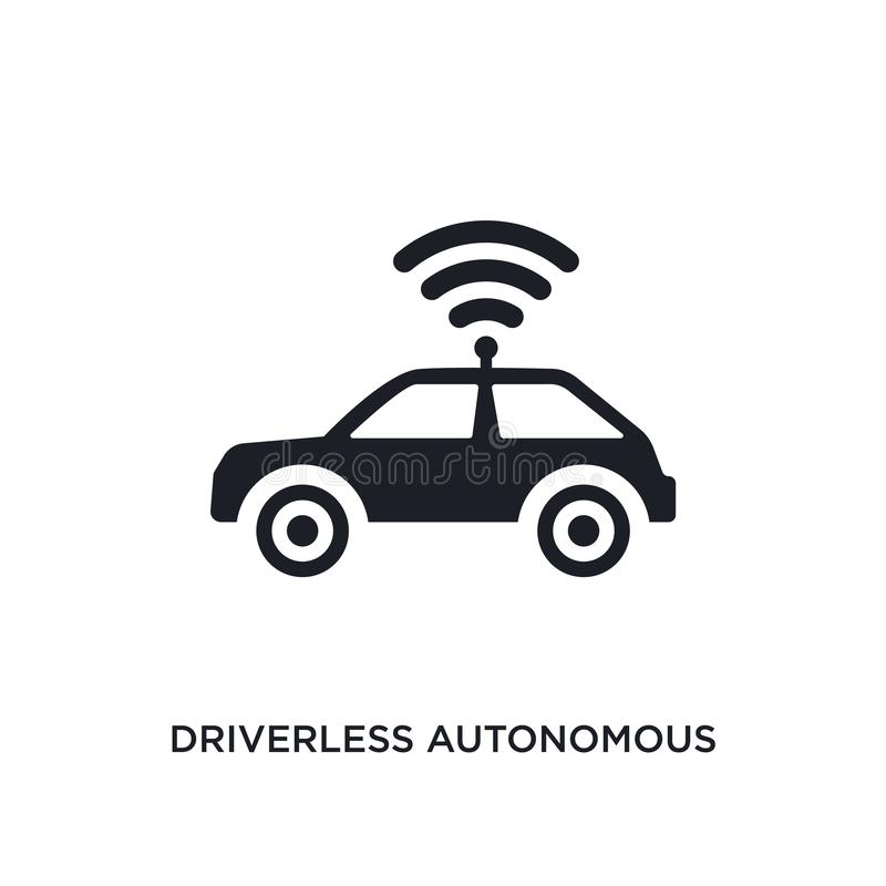 driverless autonomous car isolated icon. simple element illustration from artificial intellegence concept icons. driverless stock illustration