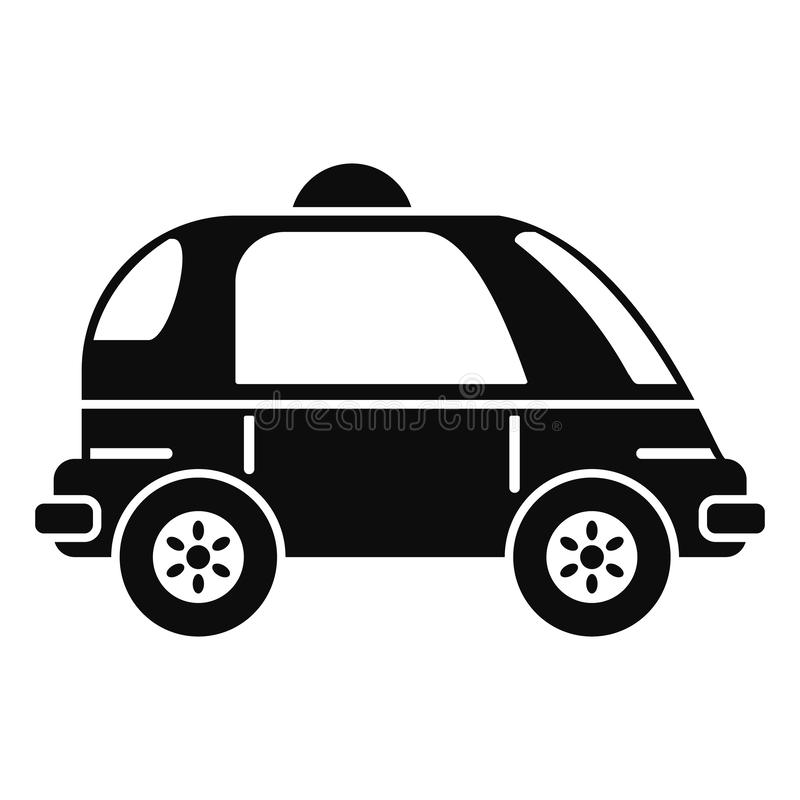 Driverless car icon, simple style royalty free illustration