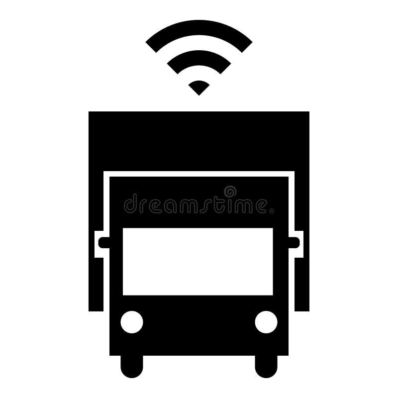 Driverless truck icon royalty free illustration