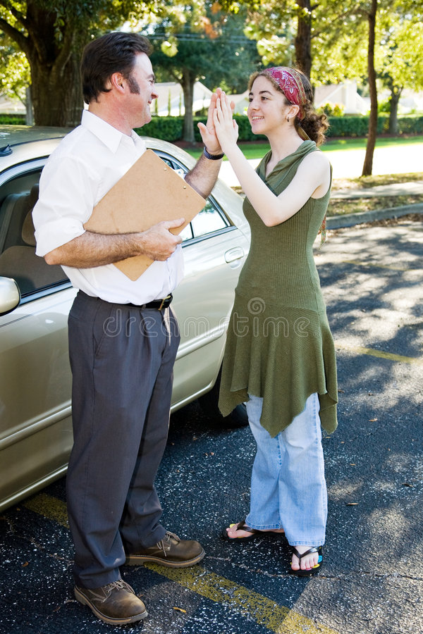 Download Drivers Test High Five stock image. Image of student, female - 7931763