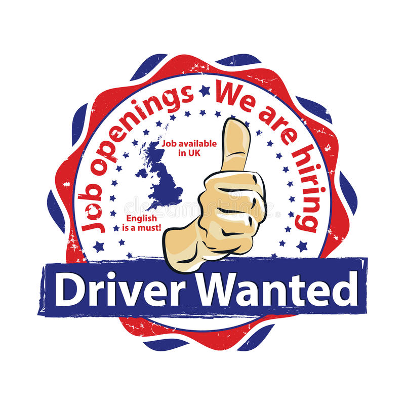 Drivers Wanted, Jobs in UK stock illustration