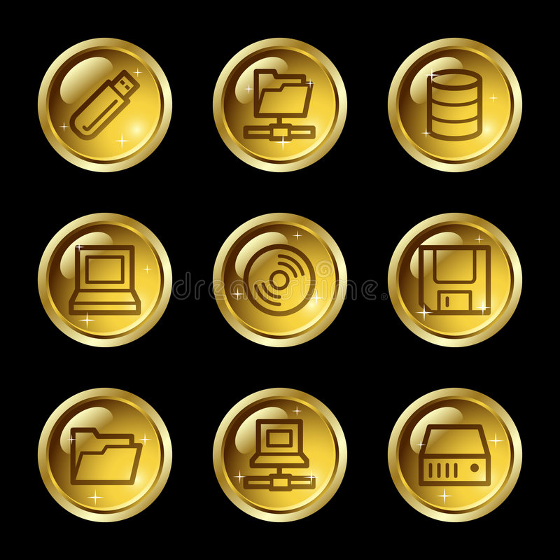 Drives and storage web icons royalty free illustration