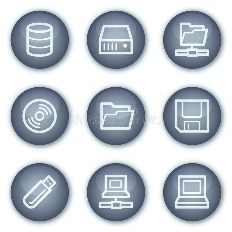 Download Drives And Storage Web Icons, Mineral Circle Stock Vector - Image: 12567402