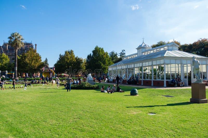 Drivhusträdgårdar i Bendigo, Australien royaltyfria bilder