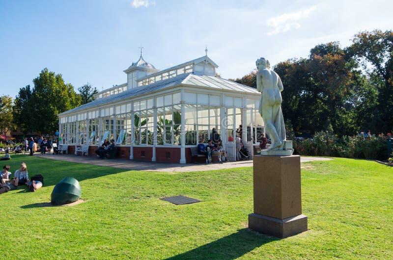 Drivhusträdgårdar i Bendigo, Australien fotografering för bildbyråer