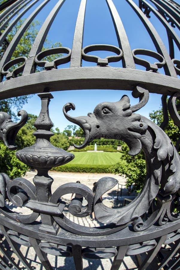 DrivhusträdgårdCentral Park, New York City arkivfoton
