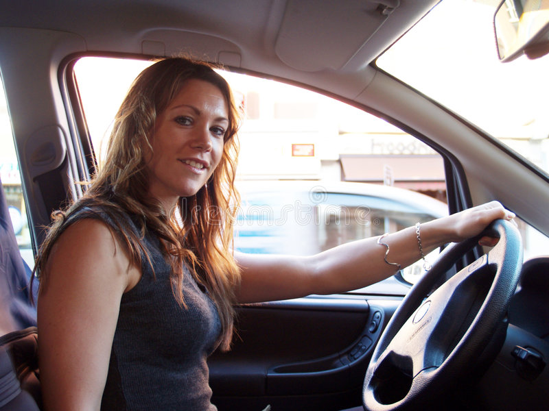Download Driving stock photo. Image of female, person, fashion - 1499484