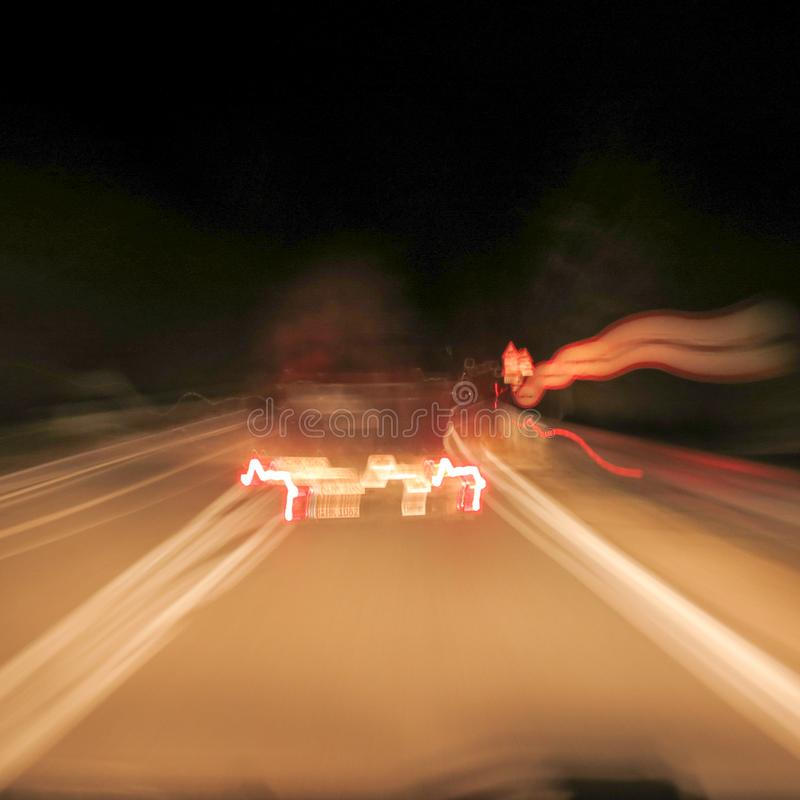 Driving in alcoholic condition royalty free stock photography