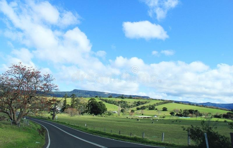 Driving along country side Road in Australia royalty free stock images