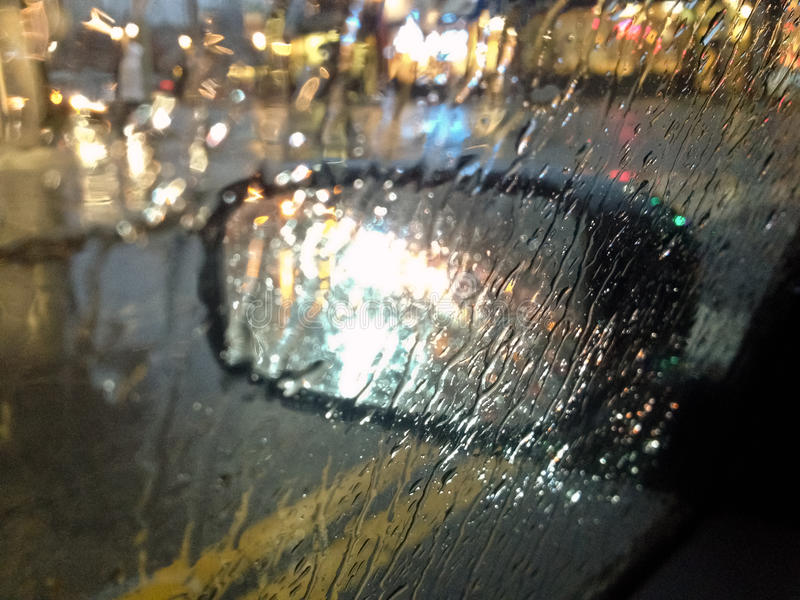 Download Driving in the autumn rain stock photo. Image of road - 22432058