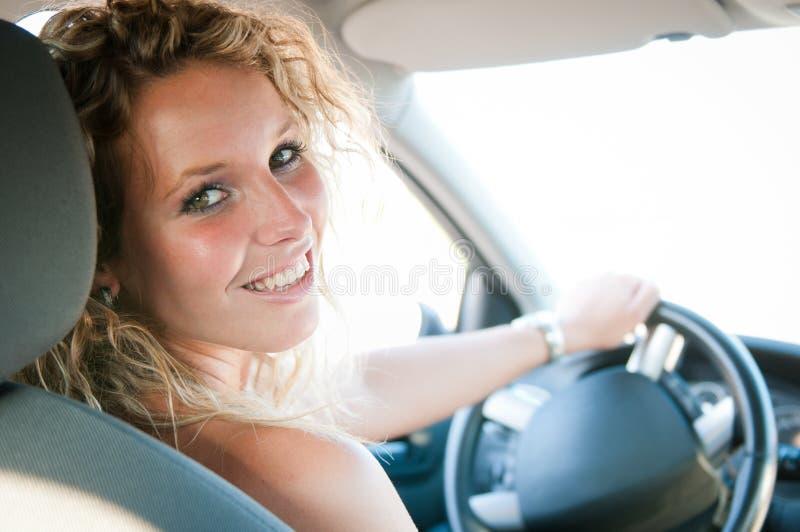 Driving car royalty free stock photos