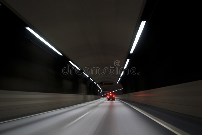 Driving A Car Fast Stock Photography
