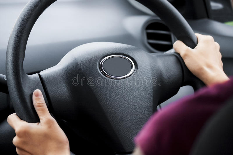 Driving car stock image