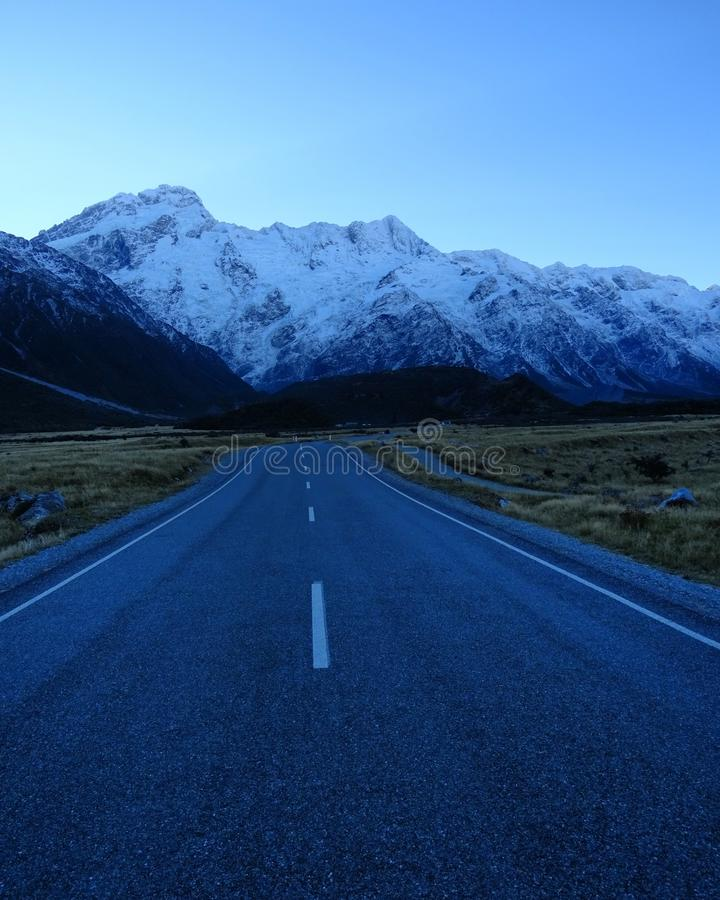 Mountain roads New Zealand stock photography