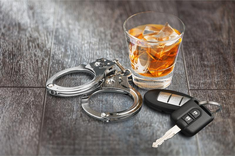 driving drunk στοκ εικόνα με δικαίωμα ελεύθερης χρήσης