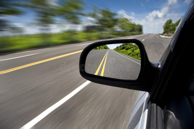 Download Driving Through The Empty Road Stock Image - Image: 15017261