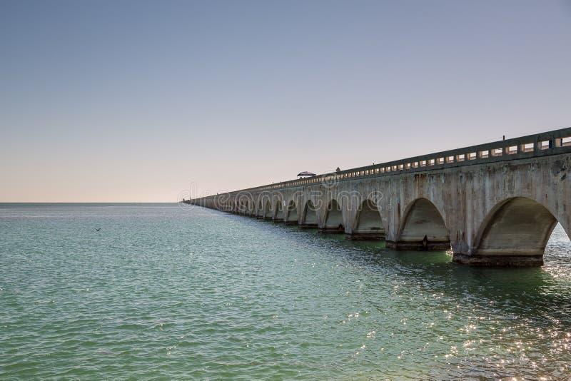 Driving on Florida Keys stock image