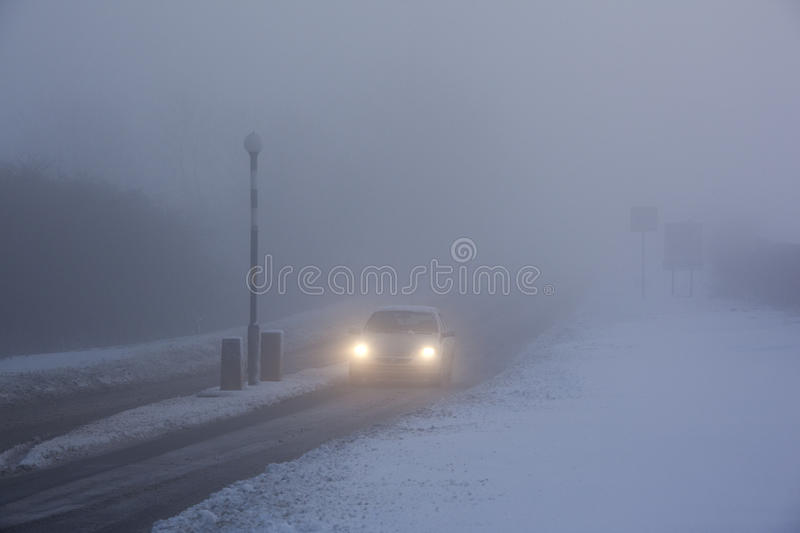 Driving in Freezing Fog - United Kingdom royalty free stock image