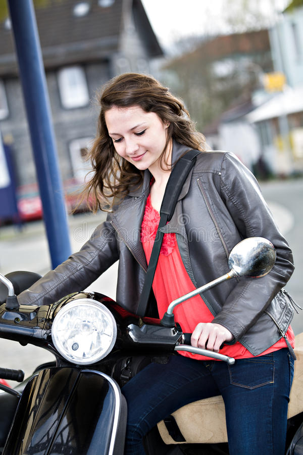 Download Driving girl stock image. Image of travel, scooter, transport - 24697997
